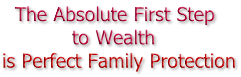 The Absolute First Step             to Wealth is Perfect Family Protection